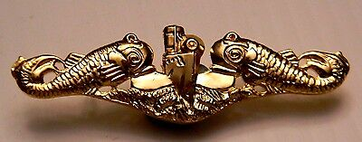 Usn Officer's Submarine Badge - Not A Hat Pin - Real Insignia