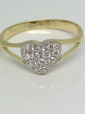 Child's / Baby Solid 9 Carat Gold Heart Ring UK Jeweller