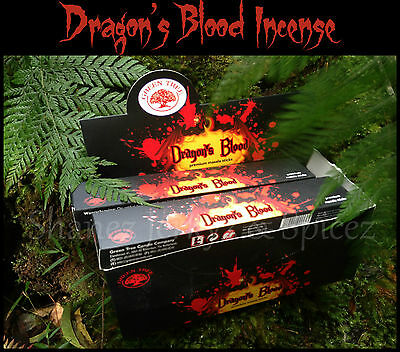 ~SHANEZ X-3 DRAGONS BLOOD PREMIUM  INCENSE STICKS~15gm~GREEN TREE~Wicca~Dragon
