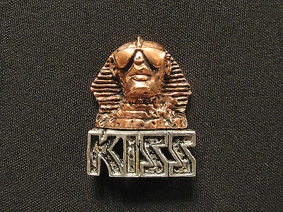 Kiss Vintage 1990 Pin Button Badge Uk Import Alchemy/poker Pewter--Copper