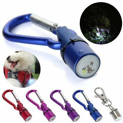 Safety Metal LED Flash Colorful Light Lamp Pendant Collar Tag For Pet Dog Cat