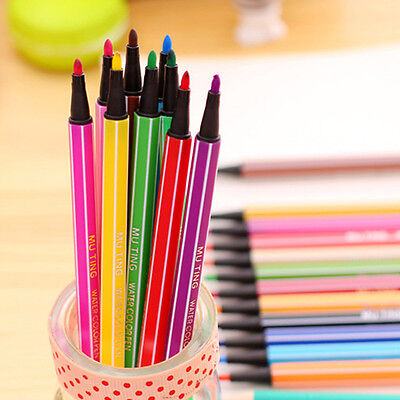 18Pcs Colored Child Convenient Watercolor Pens Drawing Sketching Marker Craft