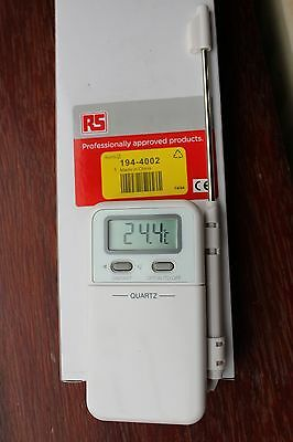 RS Digital Thermometer with 100cm wired stainless steel probe (-50/+260C)