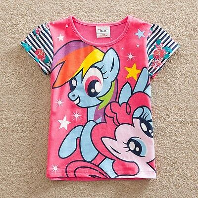 My Little Pony Girls Short Sleeved Top, Cotton, Sizes 3 - 7