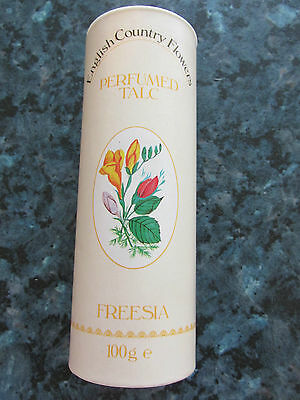 Vintage English Country Flowers Perfumed Talc 100G Freesia By Crestol