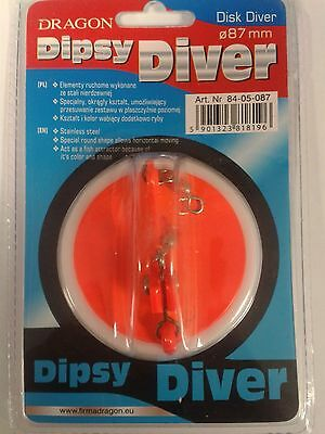 Dipsy Disc Diver diameter 87mm,  deep trolling sea fishing tackle marine boat