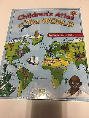 Children's Atlas of the world and Atlas of Animals Large Hardback Books (New )