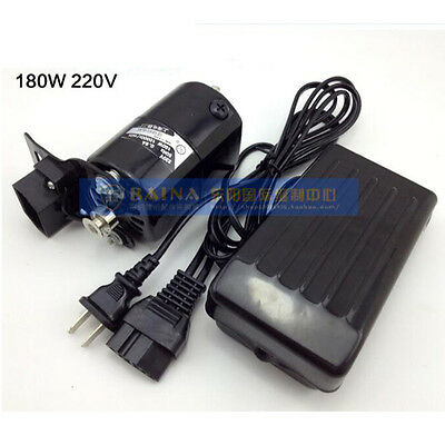 Domestic Household Belt &Foot Controller& Sewing Machine Motor 220V 180W 0.9A