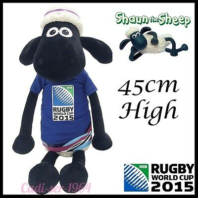 Shaun The Sheep Rugby 2015 World Cup Mascot Blue Large 45Cm New