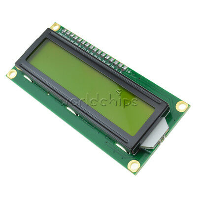 5PCS NEW 1602 16x2 HD44780 Character LCD Display Module LCM Yellow backlight