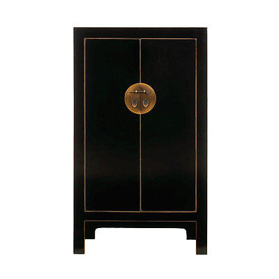 New Chinese Cabinet Gloss Black With Gold Edges