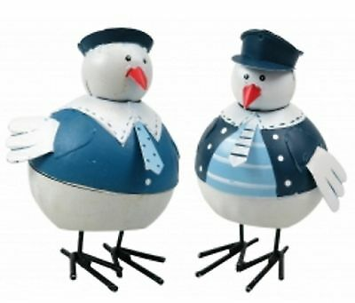 Seabird Sailor Nautical Seaside Decoration - Set of 2 Birds
