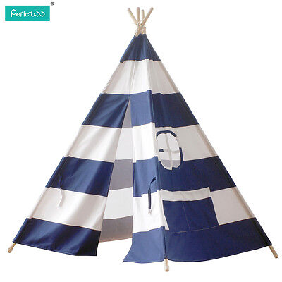 2016 Kids Play Tent large tipi teepee tepee Tent for Camping 2-3 Persons  Blue
