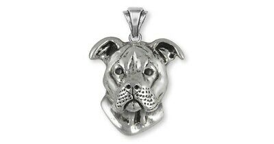 Pit Bull Pendant Handmade Sterling Silver Dog Jewelry PT20-P