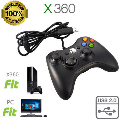 New USB Wired Game Pad Controller for Microsoft Xbox 360 PC Windows