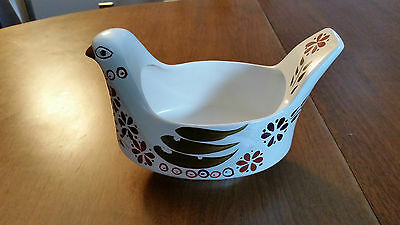 Arthur Wood Pottery Bird Chicken Vase Dish
