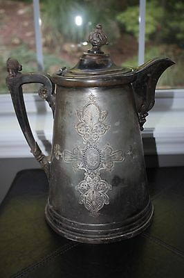 ANTIQUE ORNATE VICTORIAN ICE WATER PITCHER c. 1850