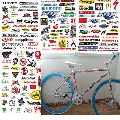 3 Sheet Car Bicycle Cycling Sticker Mountain Bike Skateboard Decal Stickers A+