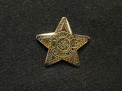 Very Small Vintage Sheriff Lapel Pin Cowboy Police Forces Uk Import