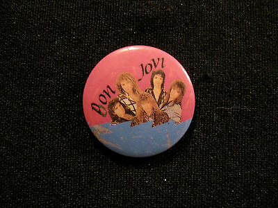 "Bon Jovi Vintage Button Badge Pin Uk Made  ""group"""