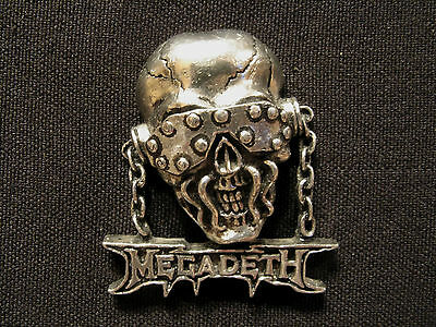 Megadeth Official Vintage 1992 Pin Button Badge Uk Import Poker/alchemy