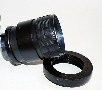 80mm (160) F1.7 PORTRAIT  TRIOPLAN  M4/3 MFT PANASONIC FITTED LENS BIOTAR -75