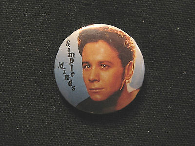 "Vintage Simple Minds 1"" Button Badges Pin Uk Import"