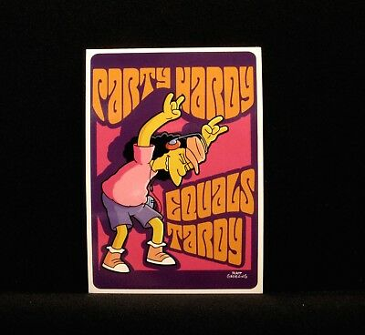 """The Simpsons New  Postcard  Uk Import  """"party Hardy....."""""""