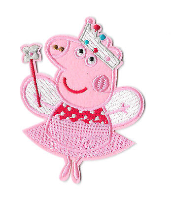 PEPPA PIG FAIRY IRON ON / SEW ON PATCH Embroidered Badge PT97 CARTOON TV KIDS