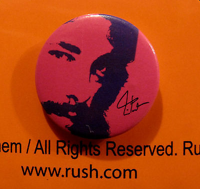 """Rush Official 1"""" Button Badge Pin Us Made"""
