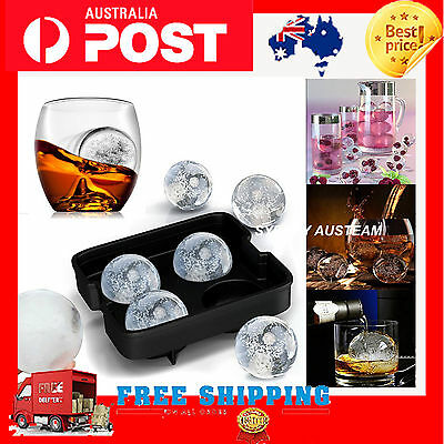 Whiskey Silicon Ice Cube Ball Freeze Maker Mold Sphere Mould Tray Round Bar