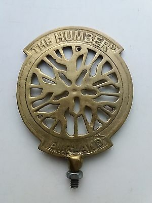 HUMBER Front Mudguard Emblem Bicycle And Motorcycle Badge Brass Free Shipping