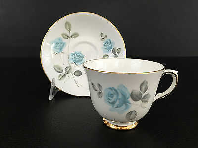 vintage Crown Staffordshire fine bone china cup & saucer England 1950's