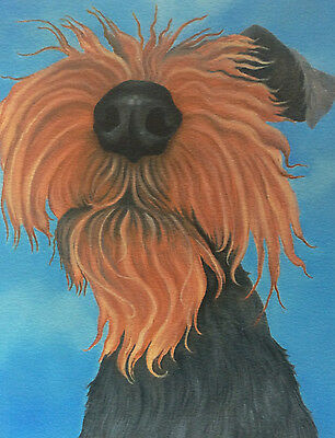 welsh terrier painting fine art giclee print by artist Lizzie Hall