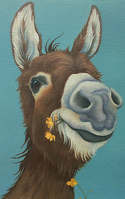 donkey picture painting fine art giclee print by artist Lizzie Hall