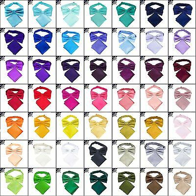 MENS BOW TIE AND POCKET SQUARE handkerchief hanky necktie CHOOSE COLOUR