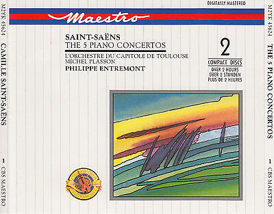 Camille Saint-Saens : The 5 Piano Concertos / Mit: P. Entremont / 2 Cd-Set / Neu