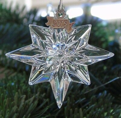 2015 *NIB* WATERFORD 1st ANNUAL MINI STAR ORNAMENT CHRISTMAS #40005062