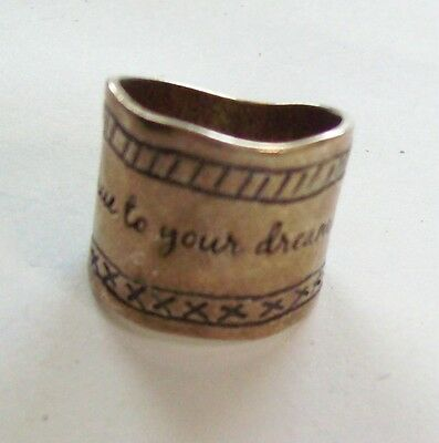 SILPADA Sterling Israel Be True to Your Dreams Wide Ring