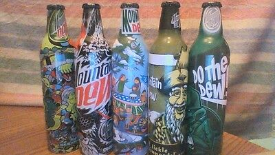 Mountain Dew collectible bottles