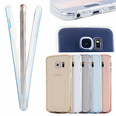 360° Full Body Protective Crystal Clear Shockproof Cover Case For Samsung Galaxy
