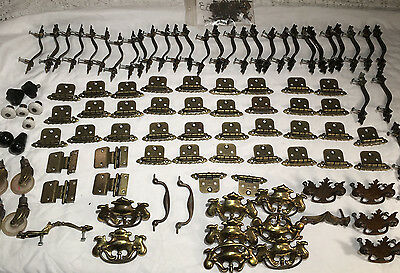 Lot Brass Lifts Drawer Pulls Knobs Dresser Pull Hinges Wheels Hardware Cupboard