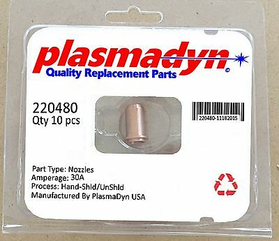 10 x 220480 Plasma Torch Nozzles Skip Knockoff Junk - Genuine PlasmaDyn US SHIP