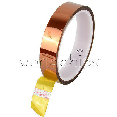 2PCS 20mm 30M 100ft Tape Adhesive High Temperature Resistant Polyimide