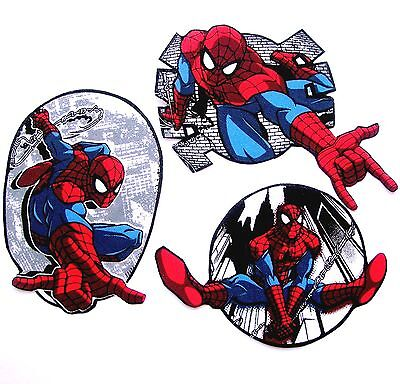 ❤️lot 3 Patchs Enfant Thermocollant Spiderman Tissu Marvel Super Hero