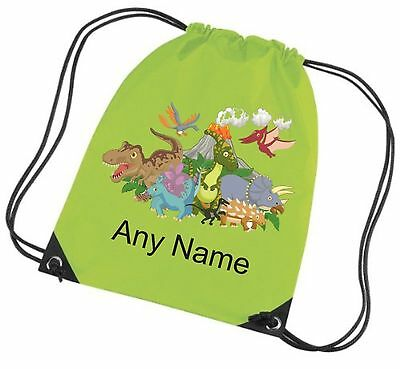 Personalised DINOSAURS/T REX School/PE/Bag  *Choice Of Colours* Free Postage*