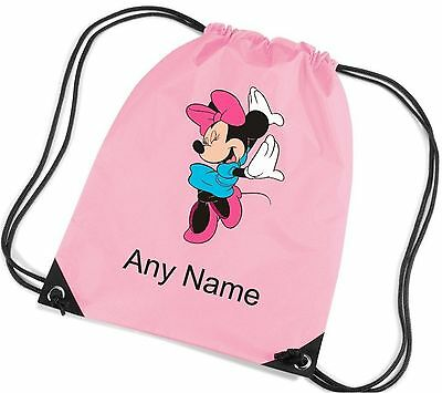 Personalised Minnie Mouse Style School/PE/Bag  *Choice Of Colours*