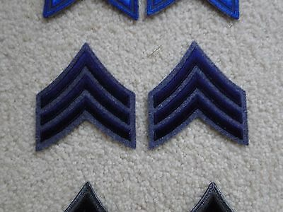Police Sergeant Stripes Patches