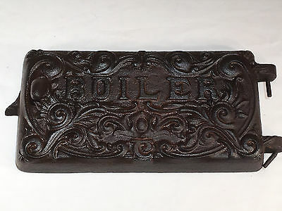 VINTAGE Cast Iron Boiler Cover Charcoal Stove Heater Lid Grate Heat