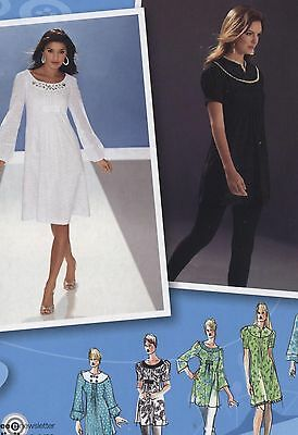 Simplicity 3530 Sewing Pattern Misses' Dress or Tunic Sizes 4 - 12 New & Uncut